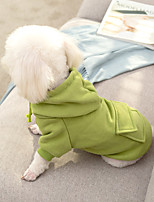 cheap -Dog Coat Hoodie Solid Colored Casual / Daily Cute Casual / Daily Winter Dog Clothes Warm Pink Green Costume Cotton S M L XL XXL