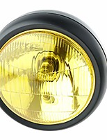 cheap -7.5inch front headlight for cafe racer motorcycle metal - black+golden