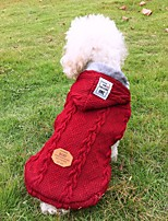 cheap -Dog Coat Sweater Solid Colored Casual / Daily Cute Casual / Daily Winter Dog Clothes Warm Red Blue Costume Fleece S M L XL XXL