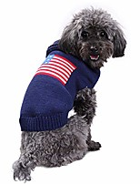cheap -dog america flag sweater pet christmas winter jumper puppy holiday warm coat for small to large dogs & #40;s& #41;