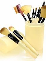 cheap -Professional Makeup Brushes 12 pcs Professional New Design Full Coverage Portable Round Plastic Barrel Travel Size Plastic for Makeup Brush Set