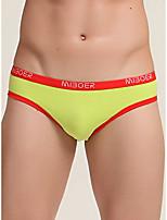 cheap -Men's Basic Briefs Underwear - Normal Low Waist White Black Blue M L XL