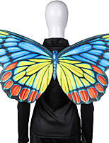 cheap -Butterfly Wings Cloak Adults' Men's Cosplay Halloween Halloween Festival / Holiday Nonwoven Blue / Red / Yellow Men's Women's Easy Carnival Costumes