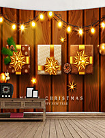 cheap -Christmas Weihnachten Santa Claus Wall Tapestry Art Decor Blanket Curtain Picnic Tablecloth Hanging Home Bedroom Living Room Dorm Decoration Wooden Board Light Wall Gift Polyester