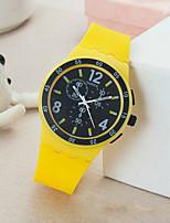 cheap -YAZOLE Women's Quartz Watches Quartz Sporty Cartoon Cute Silicone Yellow Analog - Yellow