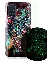 cheap -Case For Samsung Galaxy A51 5G A71 A10 A20E A30S A50 A40 A70 A70E A10S A20S A11 A01 Glow in the Dark Pattern Back Cover Flower TPU