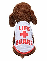 cheap -life+guard printed pet clothes pet t-shirt, dog summer apparel puppy pet costume summer vest for small dogs tank tops dogs summer shirt soft sweatshirt