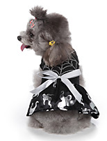 cheap -Dog Halloween Costumes Costume Dress Bowknot Bat Cute Cool Christmas Party Dog Clothes Breathable Black Costume Polyester S M L XL