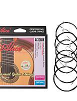 cheap -NAOMI Alice Guitar Strings AC136BK-H Black Nylon EBGDAE Single 6 Strings Guitar Parts Classical