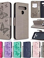 cheap -Case For LG Stylo 5 LG K61 LG K51 Wallet Card Holder with Stand Full Body Cases Butterfly PU Leather TPU
