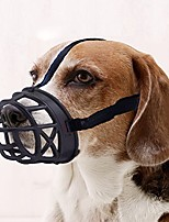 cheap -dog muzzle, basket breathable silicone dog muzzle for anti-barking and anti-chewing black
