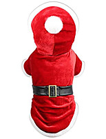 cheap -dog cat pet xmas holiday christmas mrs claus winter dress