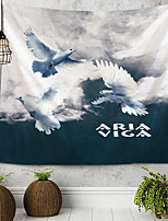 cheap -Flying White Dove Tapestry Wall Hanging Tapestries Wall Blanket Wall Art Wall Decor Landscape Painting Tapestry Wall Decor