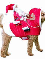 cheap -pet santa christmas costumes santa dog costume dog warm apparel party dressing up clothing for dogs cats pet suit animal clothes