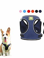 cheap -dog harness and leash set, no-pull breathable soft mesh puppy vest harness reflective adjustable pet harnesses for small medium dogs and cats - outdoor easy control for walking (navy blue)