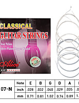 cheap -NAOMI Alice Classical Guitar Strings Clear Nylon Core Silver Plated Copper Alloy Wound Normal Tension A107-N
