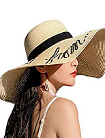 cheap -womens sun straw hat wide brim floppy foldable adjustable straw weaved travel beach uv summer hat upf50 beige