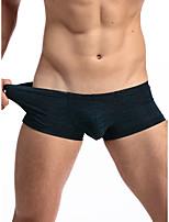 cheap -Men's 1 Piece Basic Boxers Underwear - Normal Low Waist Light Blue Black Purple M L XL