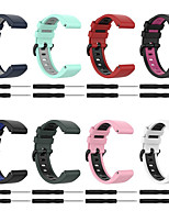 cheap -Watch Band for Garmin Fenix 6X / Garmin Fenix 6X PRO / Garmin TACTIX DELTA / Garmin fenix5x / Garmin fenix3 / Sport Band / Classic Buckle Two Color Silicone Strap