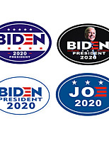 cheap -10pcs/set Biden sticker Art. No. Qf-555 car body sticker refrigerator stickerWhite / Black / Purple/Blue