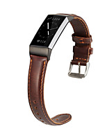 cheap -Watch Band for Fitbit Charge 4 Fitbit Modern Buckle Genuine Leather Wrist Strap