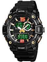 cheap -mens analog digital sports watches military multifunction 3 time alarm stopwatch countdown 12h/24h time backlight 164ft 50m waterproof watch