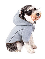 cheap -Dog Coat Hoodie Solid Colored Casual / Daily Cute Casual / Daily Winter Dog Clothes Warm White Black Gray Costume Cotton Polyster S M L XL XXL