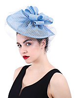 cheap -Queen Elizabeth Audrey Hepburn Retro Vintage 1950s 1920s Kentucky Derby Hat Pillbox Hat Women's Costume Hat Blue Vintage Cosplay Party Prom