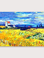 cheap -IARTS Hand Painted Wheat field Oil Painting with Stretched Frame For Home Decoration With Stretched Frame
