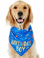 cheap -dog birthday bandana boy, soft pet scarf, happy birthday boy bandana print for dog birthday dog bandana