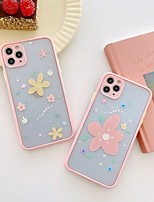cheap -Case For Apple iPhone 7 8 plus SE 2020 X XS XR XS max  11 11 Pro 11 Pro Max Pattern Back Cover  Cartoon TPU Embossed cute LOVELY flower