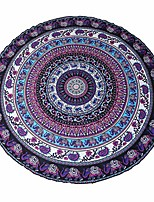 cheap -round mandala tapestry bohemian wall hanging, beach blanket picnic throw towel - 5 feet wide & #40;hippie indian mandala& #41;