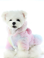 cheap -Dog Dress Rainbow Party Cute Christmas Party Winter Dog Clothes Warm Rainbow Costume Plush XS S M L XL