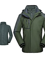 cheap -Men's Hiking Jacket Winter Outdoor Thermal Warm Windproof Breathable Soft Jacket 3-in-1 Jacket Winter Jacket Camping / Hiking Hunting Climbing White / Black / Red / Army Green / Light Blue