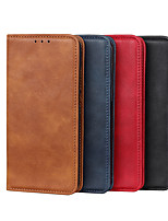 cheap -Case For LG LG K40S Q7 K50S V60 ThinQ 5G K61 K41S K51 K51S Stylo 6 Card Holder Flip Full Body Cases Solid Colored PU Leather