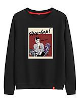 cheap -Women's Sweatshirt Sweatshirt Womens Pullover Sweatshirts Black White Pink Cartoon Crew Neck Person Cartoon Cute Sport Athleisure Pullover Long Sleeve Warm Soft Comfortable Everyday Use Causal