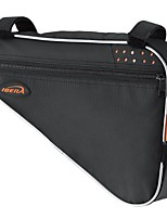 cheap -bicycle triangle frame bag, strap-on bike top tube pouch, cycling essential saddle frame bag with reflective trim, crossbar bike pack mtb, road bikes (large: 5l capacity)
