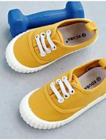 cheap -Boys' / Girls' Flats Comfort / Halloween / Christmas Canvas Little Kids(4-7ys) / Big Kids(7years +) Walking Shoes Black / Yellow / Red Spring / Fall / Rubber