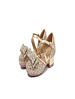 cheap -glitter low heeled toddler girls mary jane shoes girls latin dance shoes princess flower girl wedding party pump shoes(11l,gold)
