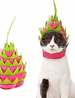 cheap -pitaya hat for cat dog pitaya fruit design headgear halloween party holiday costumes pet clothes