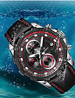 cheap -WISHDOIT Men's Sport Watch Quartz Modern Style Stylish Casual Water Resistant / Waterproof Analog Black / Silver White+Silver Black / Stainless Steel / Leather / Calendar / date / day / Noctilucent