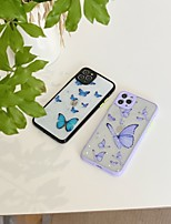 cheap -Case For Apple iPhone 7 plus 8 plus XR XS XS MAX X SE 11 11Pro 11ProMax Pattern Back Cover TPU  Butterfly