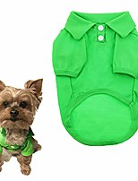cheap -dog shirts pet puppy cotton polo shirt basic t-shirt clothes for dogs and cats (green)