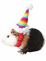 cheap -small pet holiday and christmas hat, santa hat christmas collection pet soft accessories hat for cat rabbit hamster guinea pig, small, colorful
