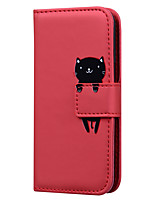 cheap -Case For Samsung Galaxy S8 S8 Plus S7 S7 Edge J5 2017 J7 2017 A3 2017 A5 2017 Card Holder Flip Full Body Cases Solid Colored  Cartoon PU Leather