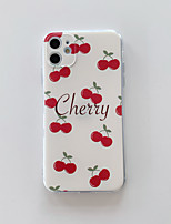 cheap -Case For Apple iPhone 11 / iPhone 11 Pro / iPhone 11 Pro Max Pattern Back Cover Food / Word / Phrase TPU