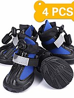 cheap -2 pairs  waterproof dog hiking boots for small puppy dogs rain snow dog walking shoes with anti-slip durable rubber breathable sole reflective tape outdoor running paws protector pet booties