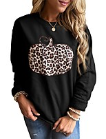 cheap -Women's Daily Pullover Sweatshirt Leopard Cheetah Print Casual Hoodies Sweatshirts  Loose Oversized White Black Orange