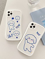 cheap -Case For Apple iPhone 7 8 plus SE 2020 X XS XR XS max  11 11 Pro 11 Pro Max Pattern Back Cover  Cartoon TPU cute LOVELY word phrase puppy
