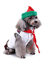 cheap -Dog Halloween Costumes Costume Shirt / T-Shirt Prince Casual / Sporty Cute Christmas Party Dog Clothes Breathable White Costume Polyester S M L XL